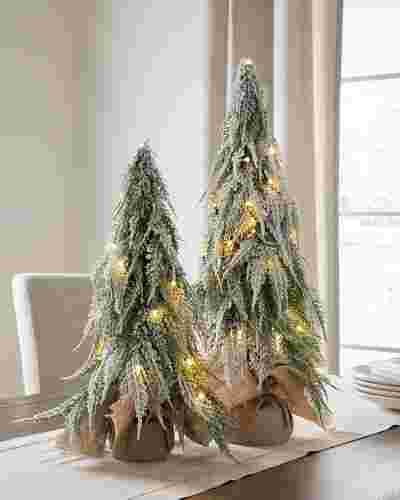 Snowfall Downswept Tabletop Trees by Balsam Hill SSC