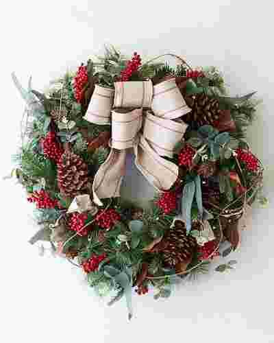 Farmhouse Wreath by Balsam Hill SSC 10