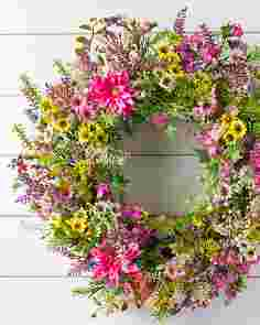 Outdoor Wildflower Fields Wreath by Balsam Hill