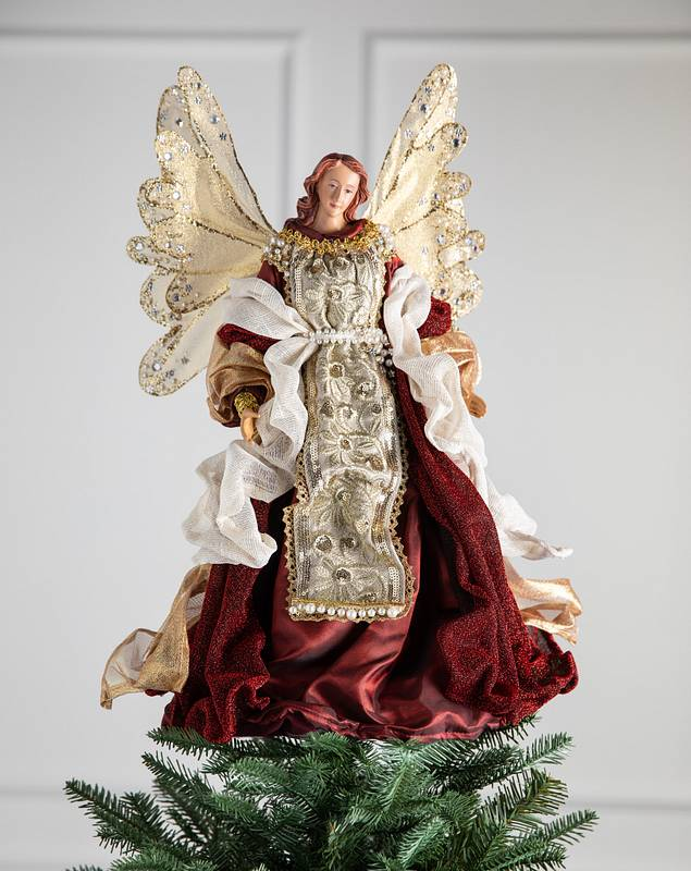 18in Holiday Grace Angel Christmas Tree Topper by Balsam Hill SSC 10