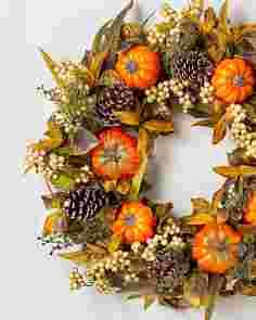 Autumn Abundance Wreath 34in SSCR by Balsam Hill