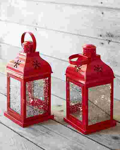 Outdoor LED Holiday Lanterns Set of 2 by Balsam Hill SSC 10