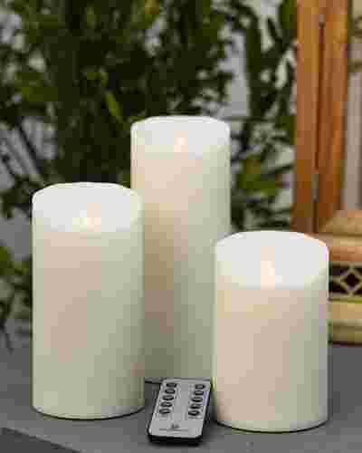 Outdoor Miracle Flame LED Pillar Candle by Balsam Hill Main