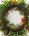 Outdoor Sunrise Dahlia Wreath by Balsam Hill Closeup 20
