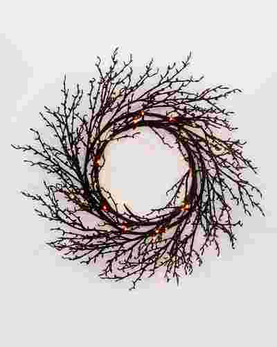 Halloween Glitter Twig Wreath SSC by Balsam Hill