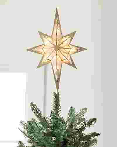 16in Capiz Bethlehem Star Tree Topper by Balsam Hill