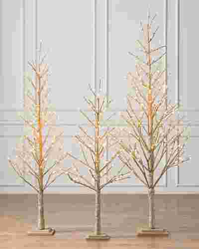 Champagne Glitter LED Tree by Balsam Hill