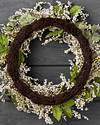 Outdoor Ivory Hydrangea Berry Wreath by Balsam Hill Closeup 20