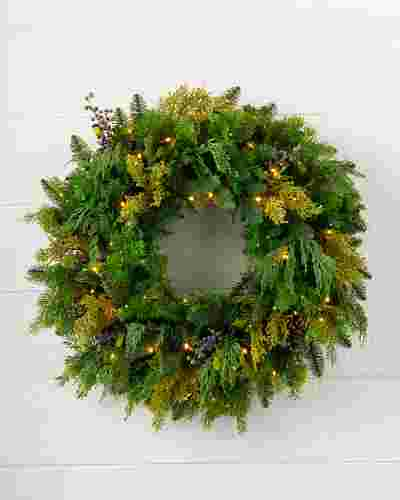 Outdoor Juniper Pine Wreath by Balsam Hill SSC