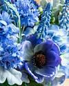 Rhapsody in Blue Floral Arrangement by Balsam Hill Closeup 10