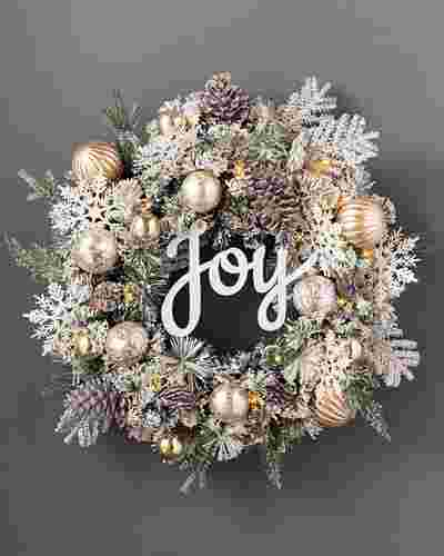 Winter Joy Flocked Wreath by Balsam Hill SSC