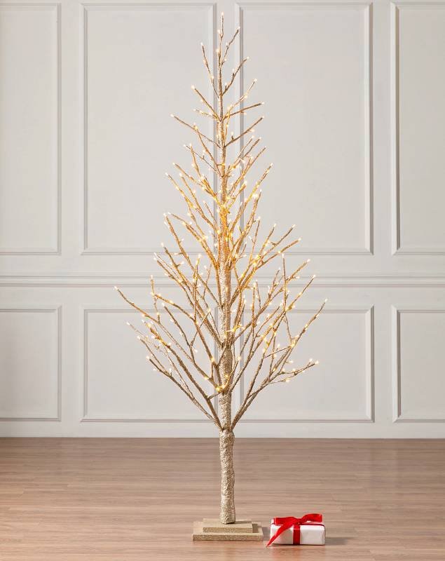 6ft Champagne Glitter LED Tree by Balsam Hill