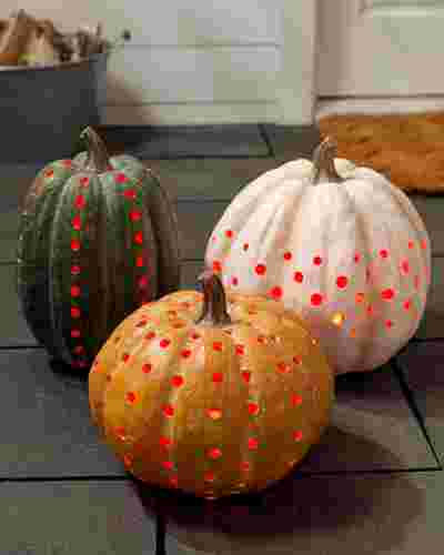 LED Cut Out Pumpkins Set of 3 SSC by Balsam Hill