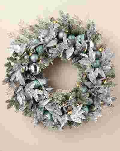 Silver Frost Wreath by Balsam Hill SSC 10