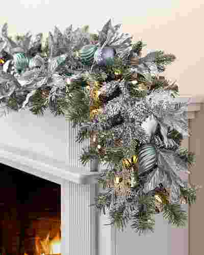 Silver Frost Garland by Balsam Hill SSC 20