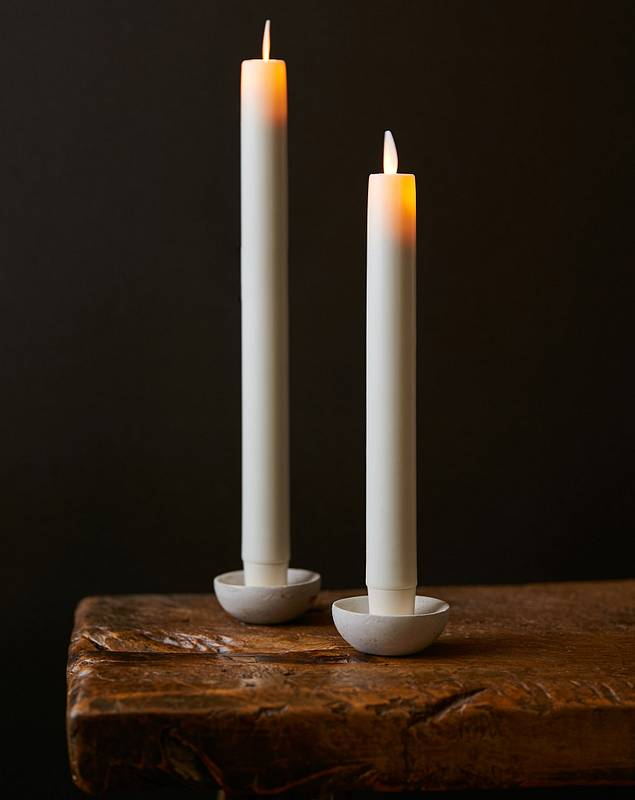 Miracle Flame LED Wax Taper Candles by Balsam Hill Main