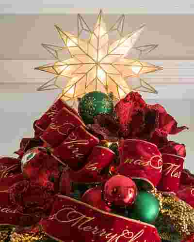 Double-Sided Starburst Christmas Tree Topper by Balsam Hill Lifestyle 30