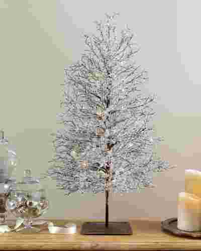 3ft Lit Icy Crystal Branch Tree by Balsam Hill SSC