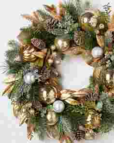 Gilded Forest Wreath by Balsam Hill SSCR