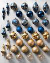 Biltmore Legacy Sapphire & Gold Ornaments by Balsam Hill SSC