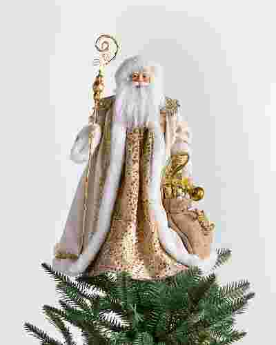 Gold Father Christmas Tree Topper by Balsam Hill