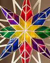 Multicolor Double-Sided Starburst Christmas Tree Topper by Balsam Hill Closeup 40