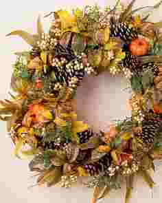 Autumn Abundance Artificial Wreath by Balsam Hill SSCR