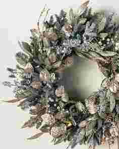 Nicole Miller Champagne Wreath by Balsam Hill SSCR 10