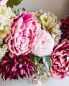 Purple Peony & Hydrangea Wreath by Balsam Hill Closeup 50