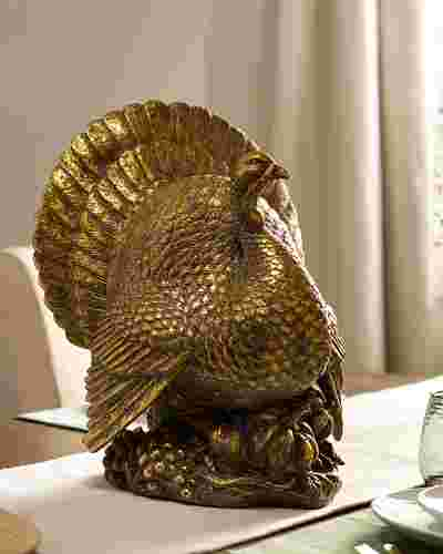 Bronzed Tabletop Turkey SSC by Balsam Hill