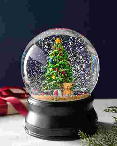 Oft Christmas Tree Musical Snow Globe by Balsam Hill SSC 10