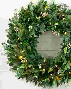 White Berry Cypress Wreath by Balsam Hill SSCR