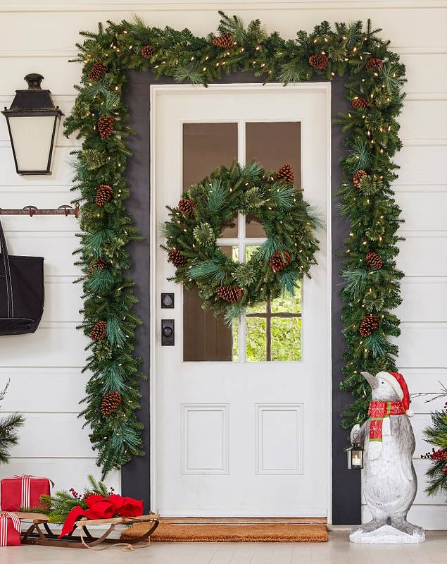 Mixed Evergreen with Pinecones by Balsam Hill Lifestyle 80