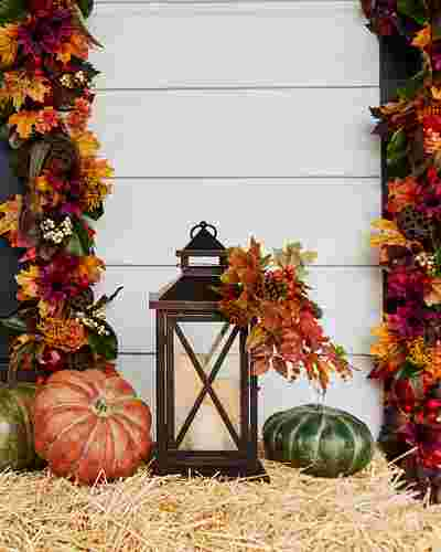 Fall Lantern with LED Candles by Balsam Hill Lifestyle 20