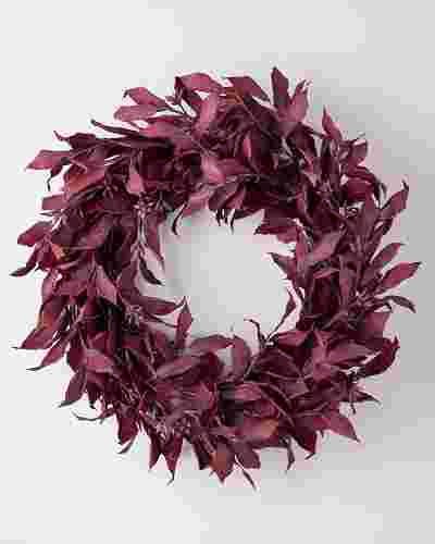 Burgundy Leaves Wreath SSC by Balsam Hill