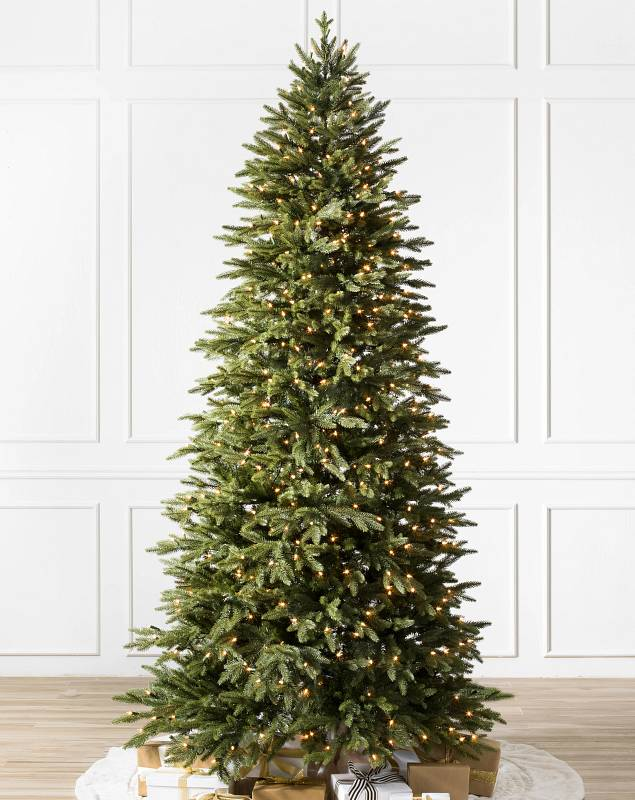 Silverado Slim Tree by Balsam Hill Candlelight™ Clear LED Lights SSC 10