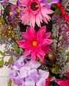 Vibrant Summer Bloom Wreath by Balsam Hill Closeup 10