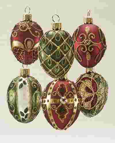Noel Glass Ornament Set, 35 Pieces by Balsam Hill SSC 20