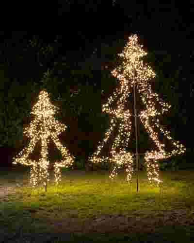 Outdoor Cluster Light Tree by Balsam Hill Closeup 10