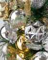 Outdoor Silver & Gold Wreath by Balsam Hill