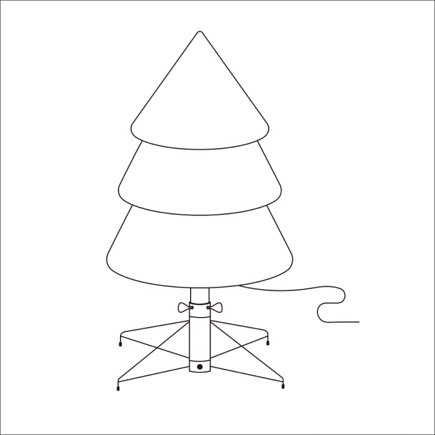 Illustrated Christmas tree assembly instructions