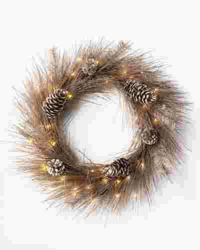 Champagne Pine Wreath by Balsam Hill