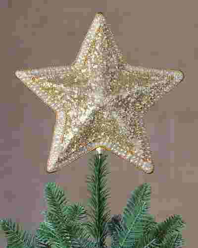 Classic Star Beaded Christmas Tree Topper by Balsam Hill SSC 10