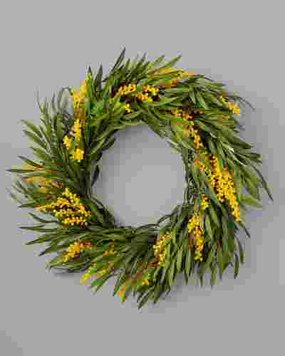 Mimosa Wreath by Balsam Hill SSC