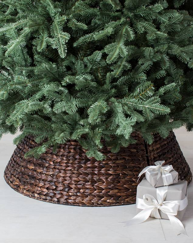 Chestnut Brown Woven Tree Collar by Balsam Hill SSC 20
