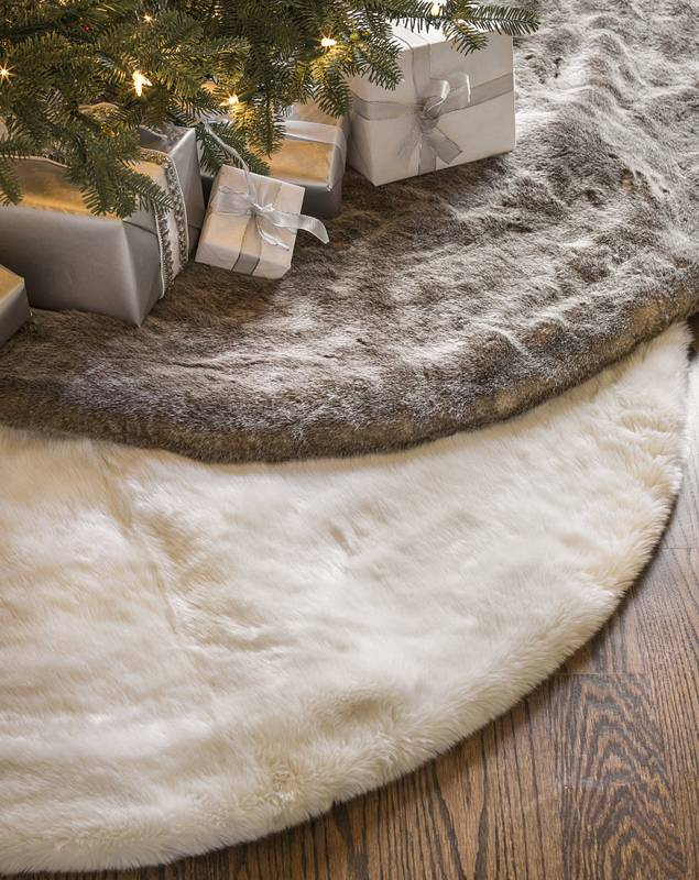 Lodge Faux Fur Tree Skirt by Balsam Hill
