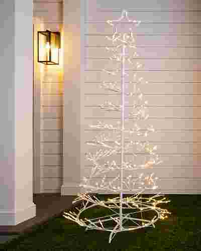 6ft Outdoor LED Spiral Birch Tree by Balsam Hill SSC