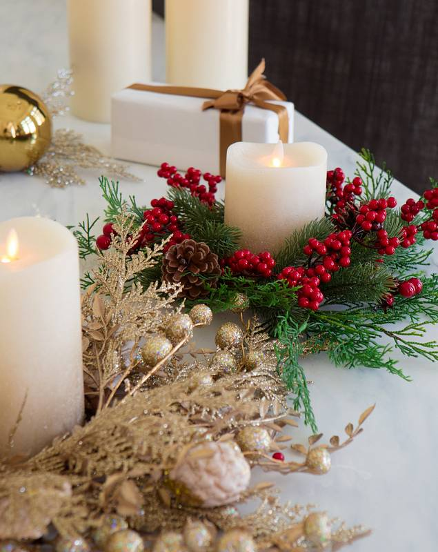 Christmas Candle Rings, Set of 3 by Balsam Hill Main