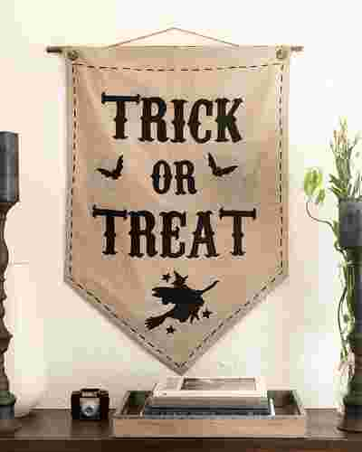 Trick or Treat Banner by Balsam Hill SSC 10