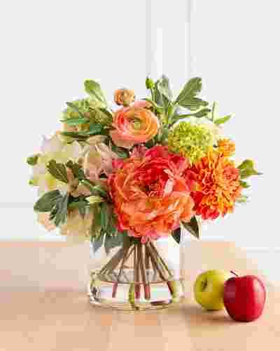 Coral Garden Floral Arrangement by Balsam Hill